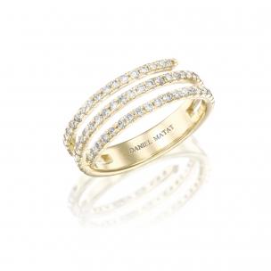 טבעת נחש יהלומים