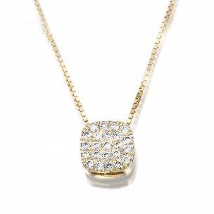 תליון קושן פווה יהלומים
