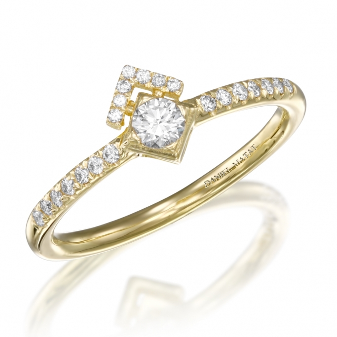 טבעת אירוסין יהלומים RZ171