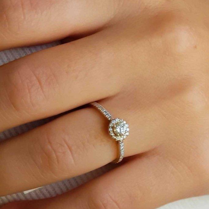 טבעת אירוסין יהלומים RB307Y
