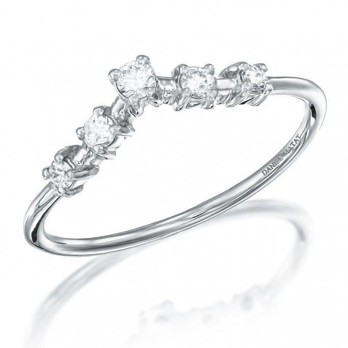 טבעת חצי נישואין יהלומים RZ187