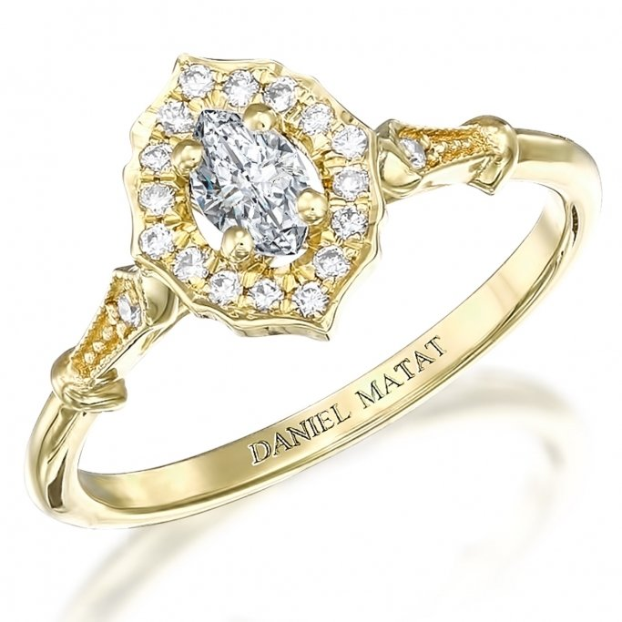 טבעת אירוסין יהלומים מרקיזה RB317M