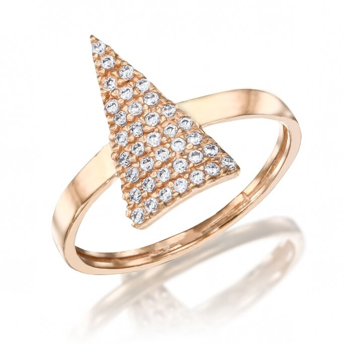 טבעת משולש זרקונים GZ70