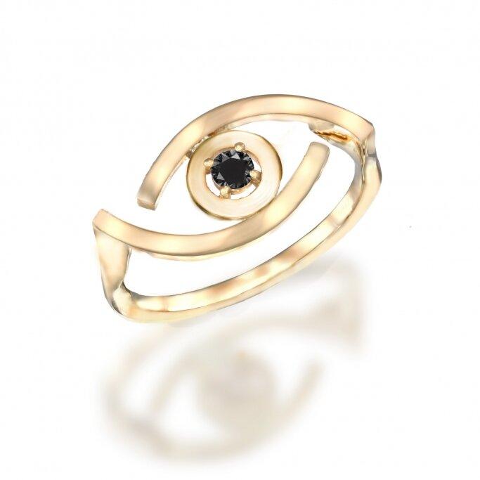 טבעת עין עדי הימלבלוי 0.08ct  RD197