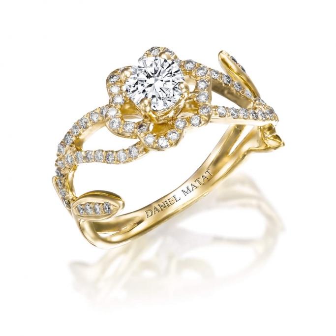 טבעת פרח RA421