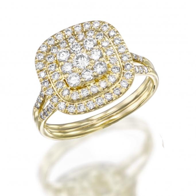 טבעת יהלומים RZ127