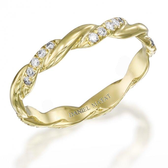 טבעת חצי נישואין צמה RX1H