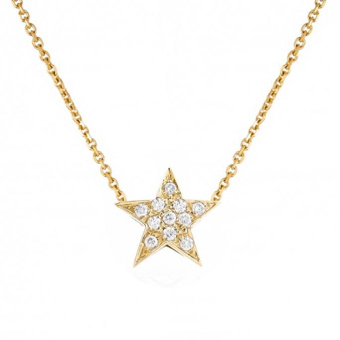 שרשרת כוכב זהב צהוב