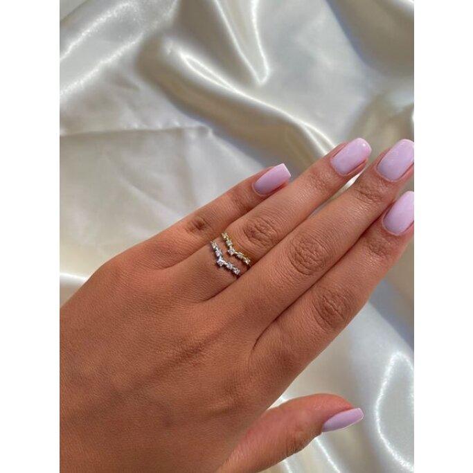 טבעת יהלומים RZ187B גולדי - Goldy