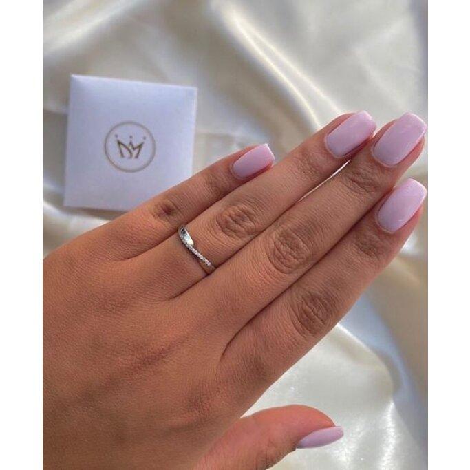 טבעת חצי נישואין יהלומים RX65 מלודי- Melody