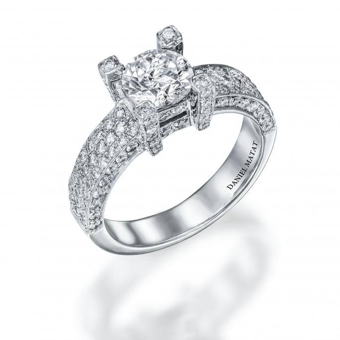 טבעת אירוסין יהלומים RB96