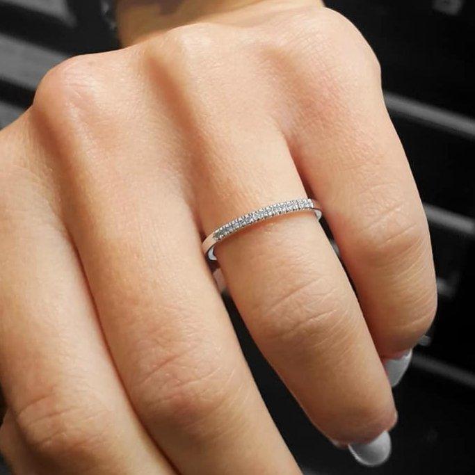 טבעת חצי נישואין יהלומים RD212
