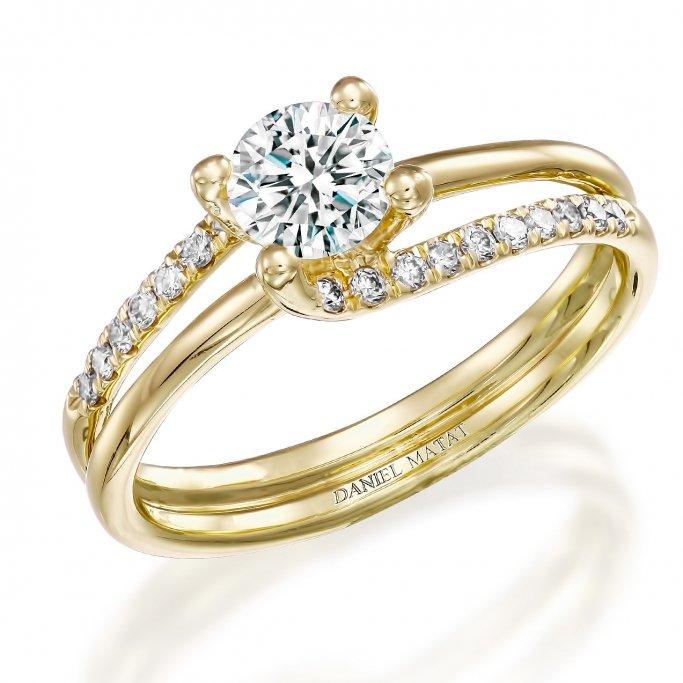 טבעת אירוסין יהלומים RA245
