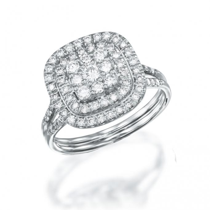 טבעת יהלומים 002