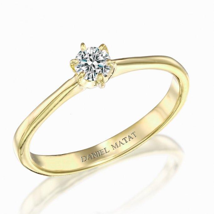 טבעת סוליטר יהלום RA237B
