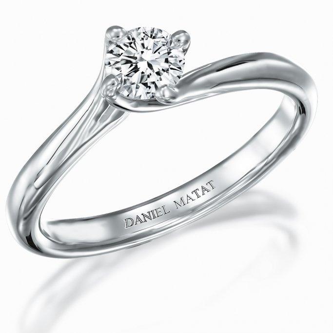 טבעת סוליטר יהלום RA401W