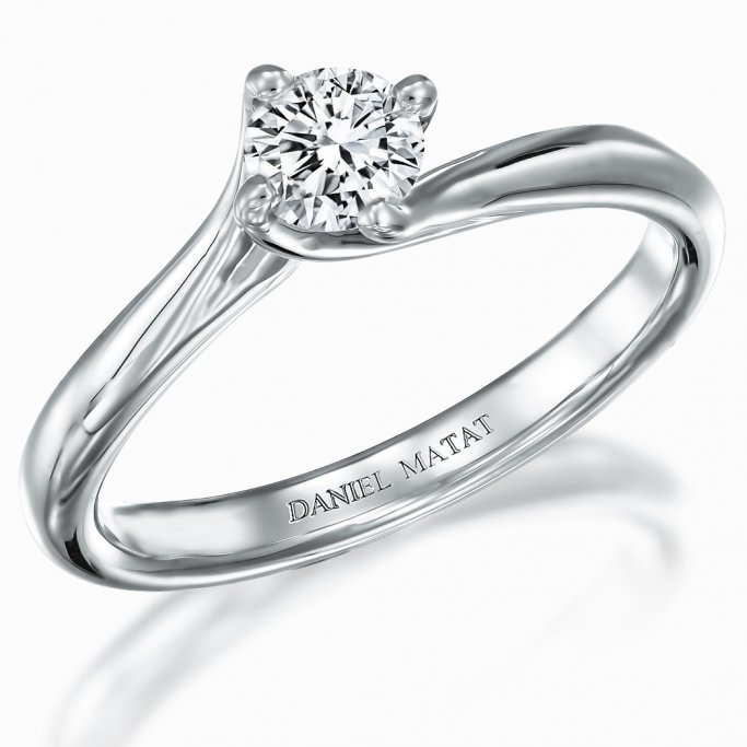 טבעת סוליטר יהלום RA401Y