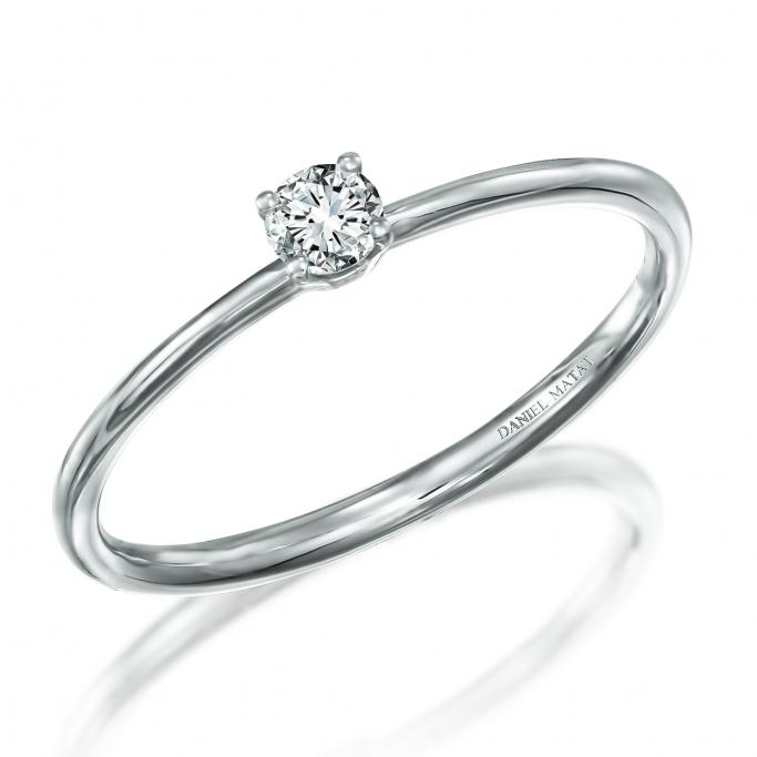 טבעת סוליטר יהלום RA455 אלין