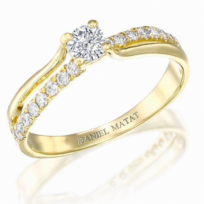 טבעת אירוסין יהלומים RB235