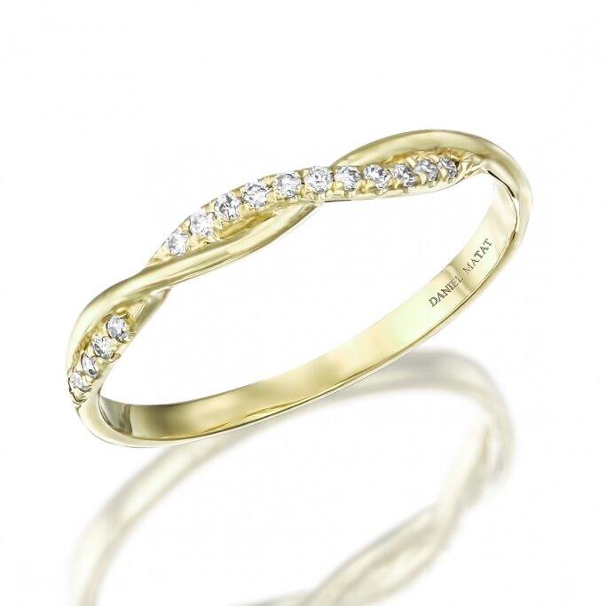 טבעת צמה יהלומים RD245