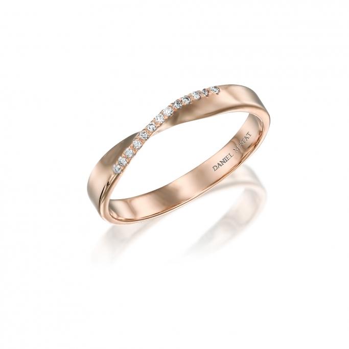 טבעת חצי נישואין יהלומים RX65