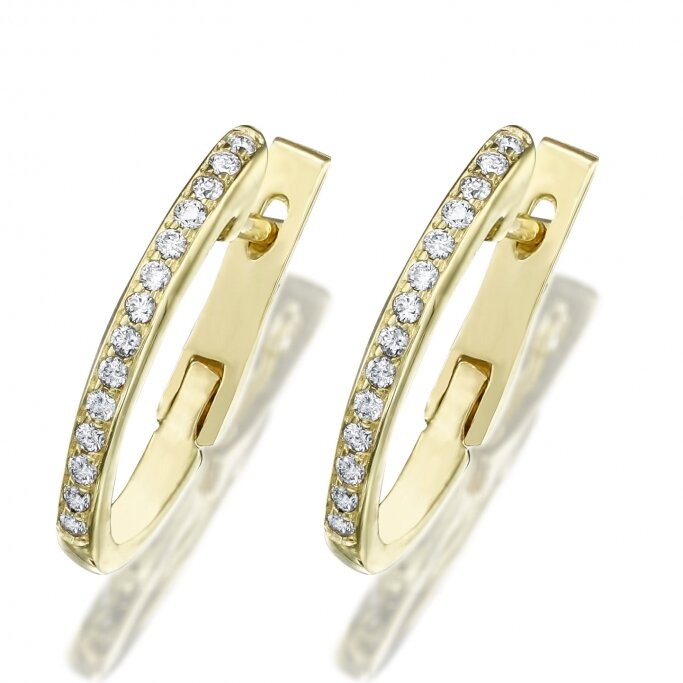 עגילי חישוק יהלומים EH4257