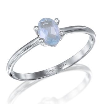 טבעת אבן חן אקוומרין