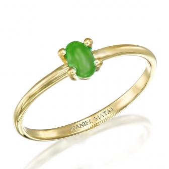 טבעת אבן חן קפוצון