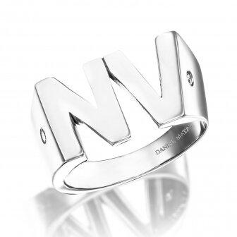 טבעת אותיות NV