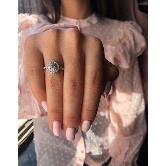 טבעת אירוסין יהלומים L11