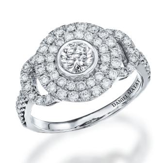 טבעת אירוסין זהב לבן RB146
