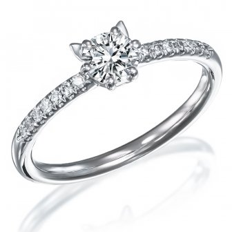 טבעת אירוסין יהלומים אוזני חתול