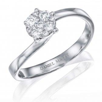 טבעת אירוסין זהב לבן RA365
