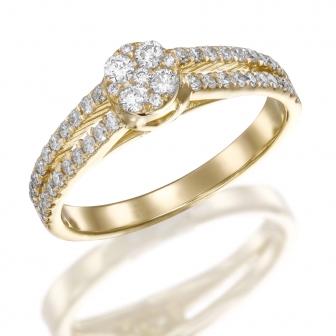 טבעת אירוסין דגם RB165P