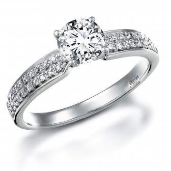 טבעת אירוסין דגם RA214BW