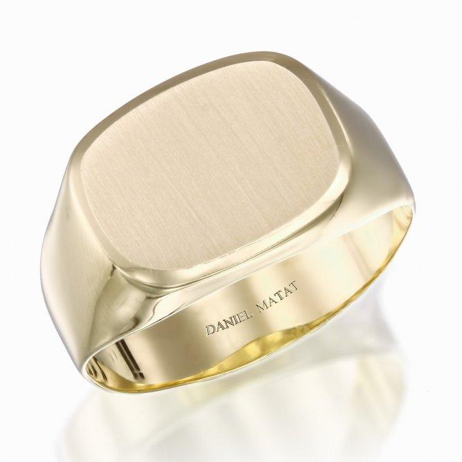 טבעת לגבר זהב צהוב