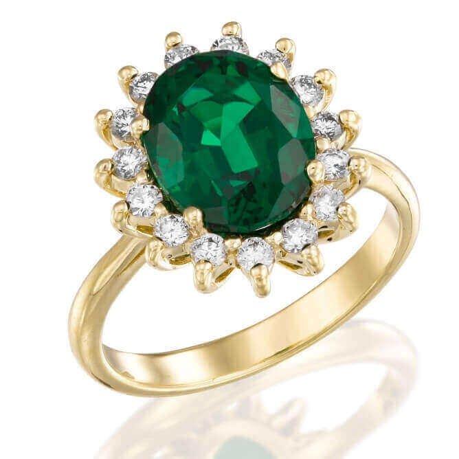 טבעת דיאנה אמרלד