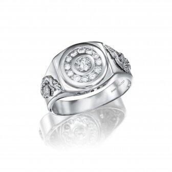 טבעת גבר דרקון יהלומים