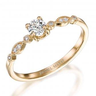 טבעת יהלומים וינטאג' RB522