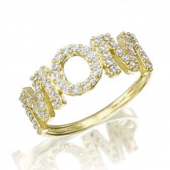 טבעת MOM זרקונים