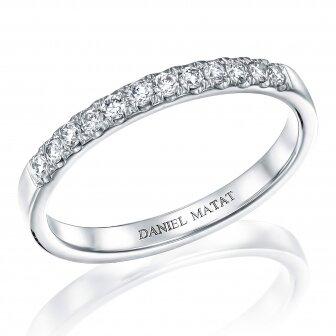 טבעת חצי נישואין יהלומי מעבדה RD146