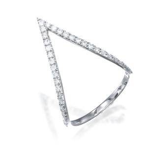טבעת יהלומים חץ