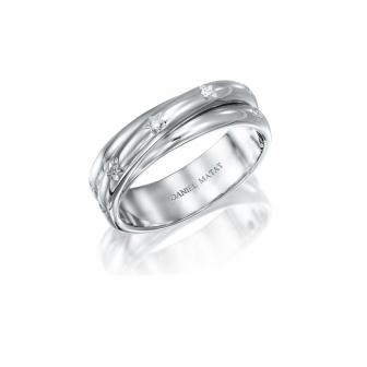 טבעת יהלומים מעוצב כוכבים