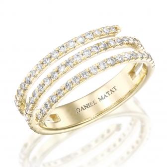 טבעת יהלומים נחש