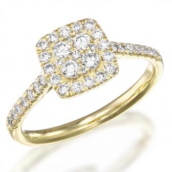 טבעת יהלומים 003