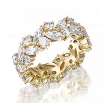 טבעת יהלומים M-R