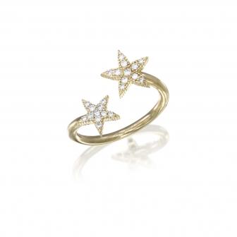 טבעת כוכבים יהלומים