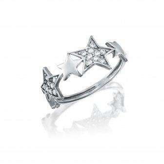 טבעת כוכבים זרקונים GZ55