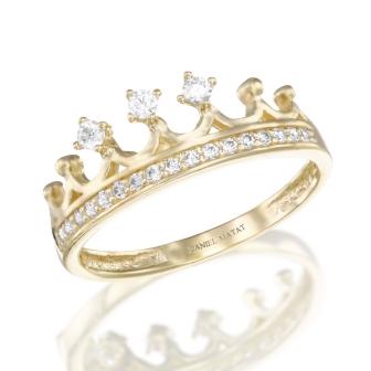 טבעת כתר זרקונים