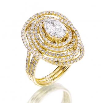 טבעת מעוצבת יהלומים 4556